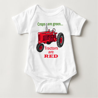 Tractors Are Red Baby Bodysuit