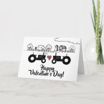 Tractors in LOVE Country Farm Valentine's Day Holiday Card