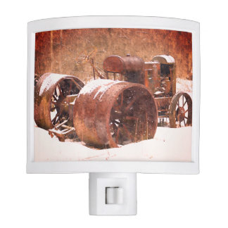 Tractors Winter Antique Tractor Night Light