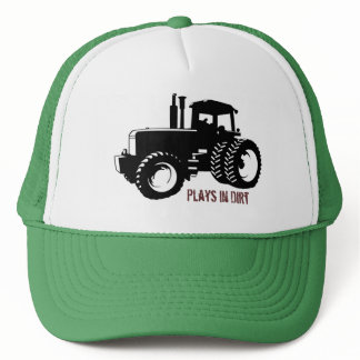 TractorSilbk, Plays in Dirt Trucker Hat