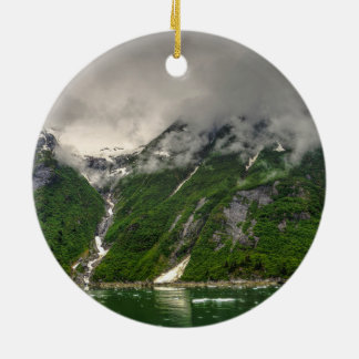 Tracy Arm, Alaska Double-Sided Ceramic Round Christmas Ornament