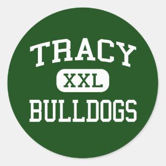 Tracy - Bulldogs - High School - Tracy California Round Sticker