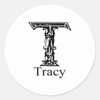Tracy Classic Round Sticker