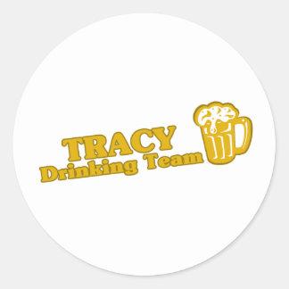 Tracy Drinking Team tee shirts Sticker