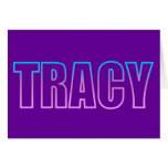 Tracy Greeting Card