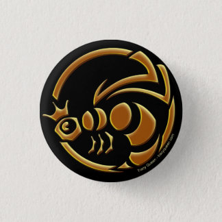 Tracy Queen - Queen Bee Crest Button