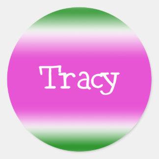 Tracy Round Sticker