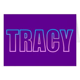 Tracy Tarjeta De Felicitación