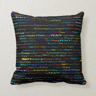 Tracy Text Design I Throw Pillow