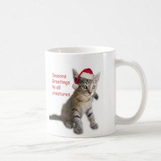 Tracy's Kitty, Seasons Greetings Coffee Mug
