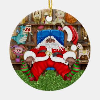 Tracy's Tired Santa Christmas Tree Ornaments