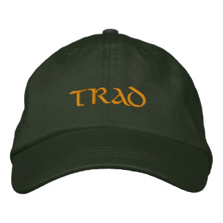 Trad (Irish Traditional Music) flexfit ballcap Embroidered Baseball Hat