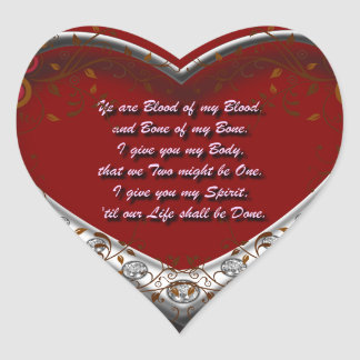 Trad. Scot Love Vow: Blood of my Blood - Autumnal Heart Sticker