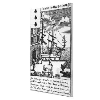 Trade at Harborough, English playing card Canvas Print