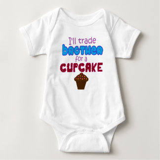 trade brother for cupcake baby bodysuit