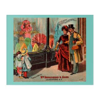 trade card William Broadhead & Sons dress goods Acrylic Print