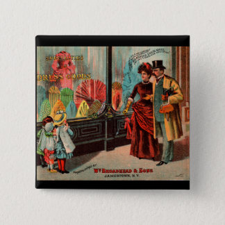trade card William Broadhead & Sons dress goods Button