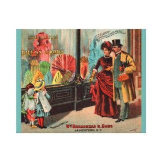 trade card William Broadhead & Sons dress goods Canvas Print