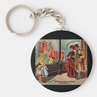 trade card William Broadhead & Sons dress goods Keychain