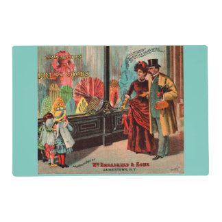 trade card William Broadhead & Sons dress goods Placemat