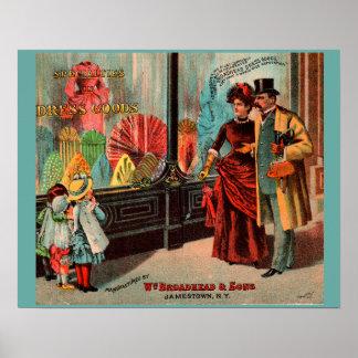 trade card William Broadhead & Sons dress goods Poster