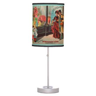 trade card William Broadhead & Sons dress goods Table Lamp