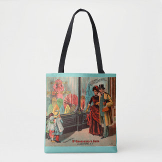 trade card William Broadhead & Sons dress goods Tote Bag