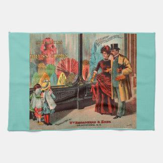 trade card William Broadhead & Sons dress goods Towel