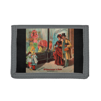 trade card William Broadhead & Sons dress goods Trifold Wallet