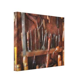 Trade - Carpenter - Old tools Canvas Print