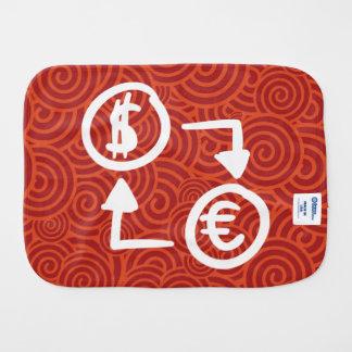 Trade Currencies Minimal Baby Burp Cloths