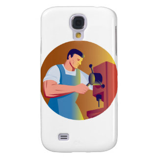 trade factory worker working with drill press samsung galaxy s4 covers