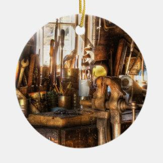 Trade - Handyman - Messy Workbench Ceramic Ornament