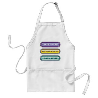 Trade Online Instant Access Learn More Buttons Adult Apron