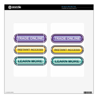 Trade Online Instant Access Learn More Buttons Kindle Fire Decal