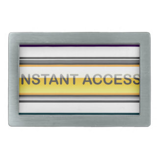 Trade Online Instant Access Learn More Buttons Rectangular Belt Buckle