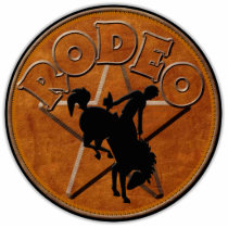 TRADE STAND SIGN ~ Rodeo Rider Statuette