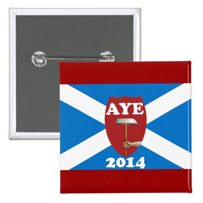Trade Unionist Scottish Independence Flag Badge Pinback Button