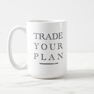 Trade Your Plan - The Trading Commandments Classic White Coffee Mug