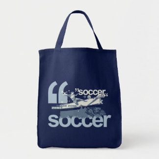 Trade Zone Soccer T-shirts and Gifts Grocery Tote Bag