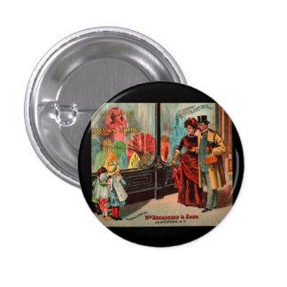 tradecard Wm Broadhead y mercancías del vestido de Pin Redondo De 1 Pulgada