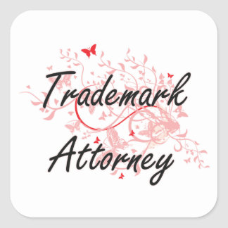 Trademark Attorney Artistic Job Design with Butter Square Sticker