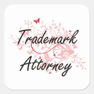 Trademark Attorney Artistic Job Design with Butter Square Sticker