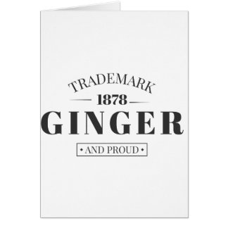 Trademark Ginger Card