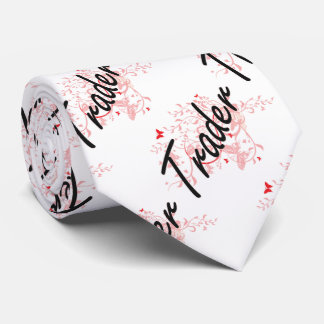 Trader Artistic Job Design with Butterflies Neck Tie