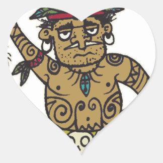 Trader Sam Head Salesman by Tiki tOny Heart Sticker