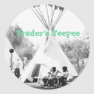 Trader's Teepee Classic Round Sticker