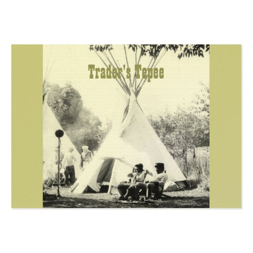 Trader's Tepee Large Business Cards (Pack Of 100)