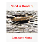 """TRADES, ROOFING 8.5"""" X 11"""" FLYER"""