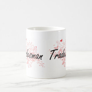 Tradesman Artistic Job Design with Butterflies Coffee Mug